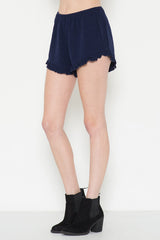 Ruffle Bottom Jersey Shorts