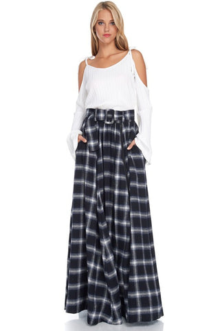 Flannel Widow Maxi Skirt