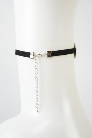 Chocker With Silver Inserts