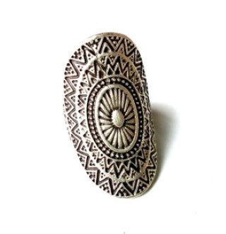 Turkish Silver Aztec Ring