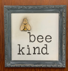 Thrift Store Frame Bee Kind
