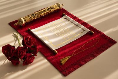 Champagne Scroll with Gold Case