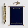 Navy Blue Scroll with Gold Case