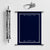 Navy Blue Scroll with Silver Case