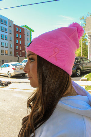 JERPA Pink Breast Cancer Awareness Beanie