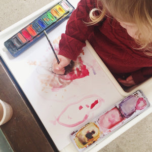 Painting with toddlers