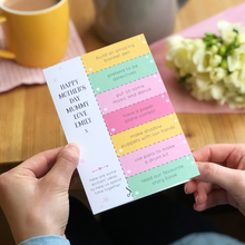 Mum And Me Activity Ideas Mother's Day Coupon Card - Clara and Macy