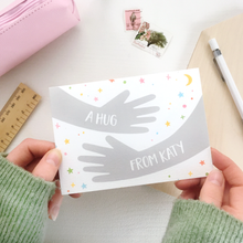 Personalised A Hug From Me Card - Clara and Macy