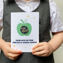 First Day At School 'A Hug From' Pin Badge Apple Card