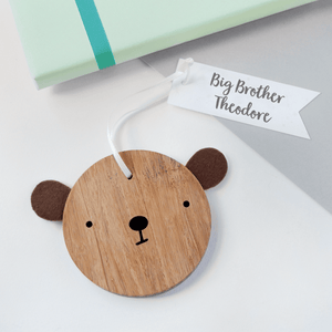 Personalised Big Brother Bear Keepsake - Clara and Macy