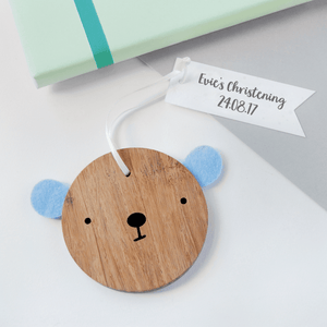 Personalised Christening Bear Keepsake - Clara and Macy
