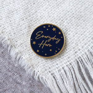 Hero Enamel Pin Badge - Clara and Macy
