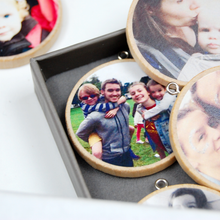 Personalised Our Family Christmas Photograph Decorations Box - Clara and Macy