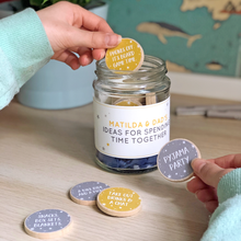 Personalised Dad And Me Time Together Ideas Jar - Clara and Macy