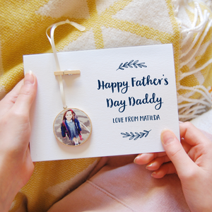 Personalised Father's Day Photo Keepsake Card - Clara and Macy