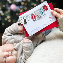 Personalised Baby's First Christmas Washing Line Card - Clara and Macy