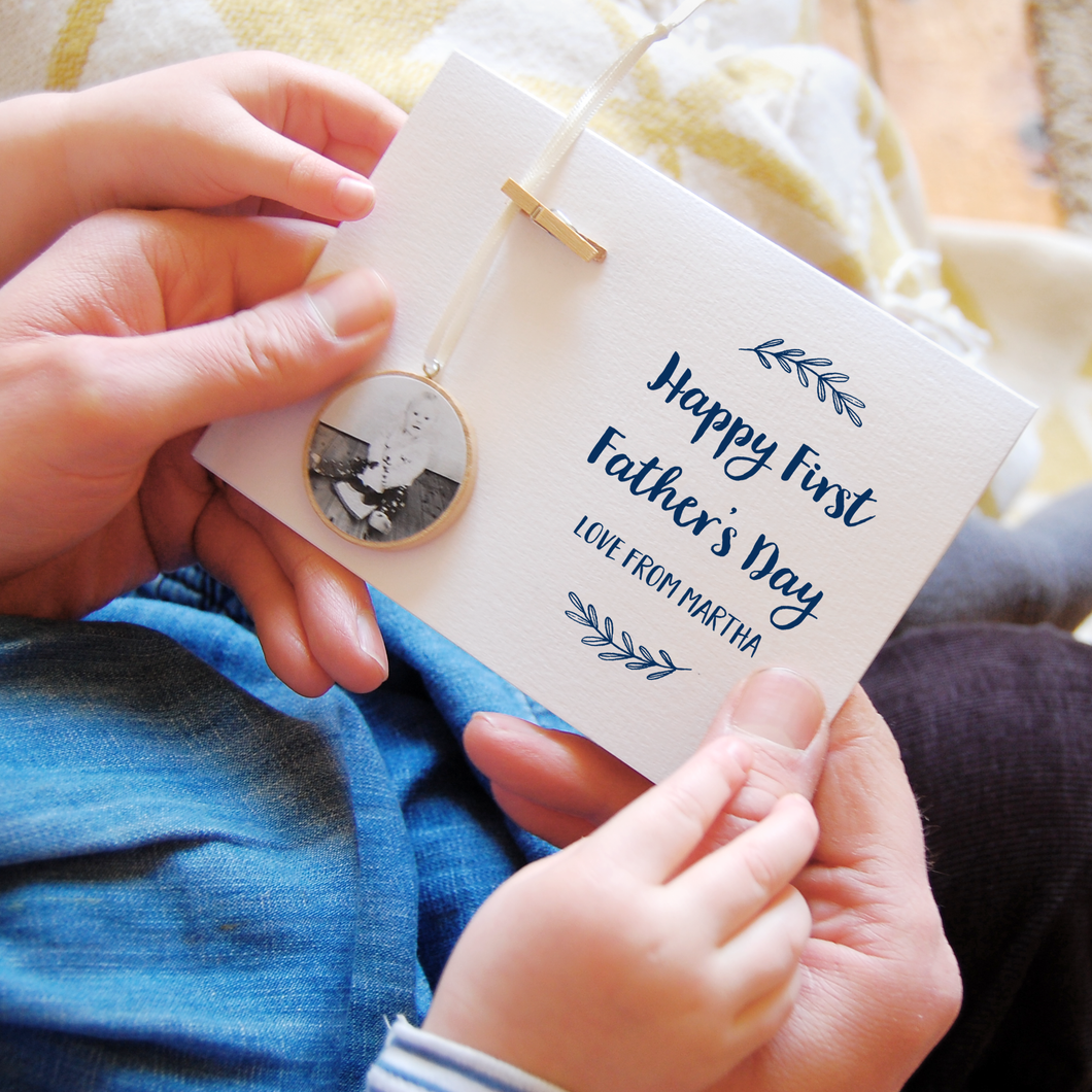 Personalised First Father's Day Photo Keepsake Card - Clara and Macy
