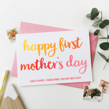 Personalised First Mother's Day Card - Clara and Macy