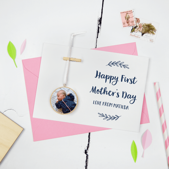 Personalised First Mother's Day Photo Keepsake Card - Clara and Macy