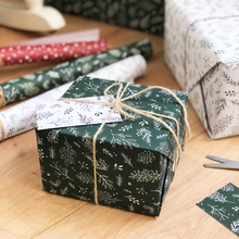 Christmas Greenery Green Wrapping Paper Set - Clara and Macy
