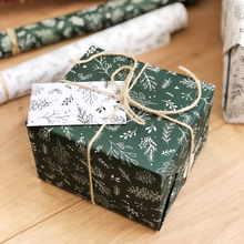 Christmas Greenery Green Wrapping Paper Set