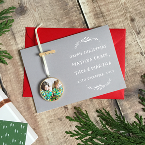 Personalised Christmas Keepsake Decoration Card