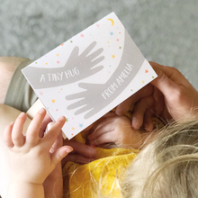 Personalised Tiny Hug First Father's Day Card - Clara and Macy