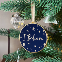 I Believe Enamel Christmas Tree Decoration