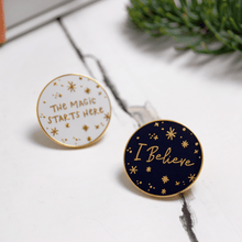 I Believe Enamel Lapel Pin - Clara and Macy
