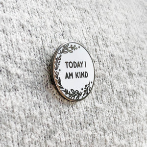 Back To School 'Today I Am' Pin Badge Card