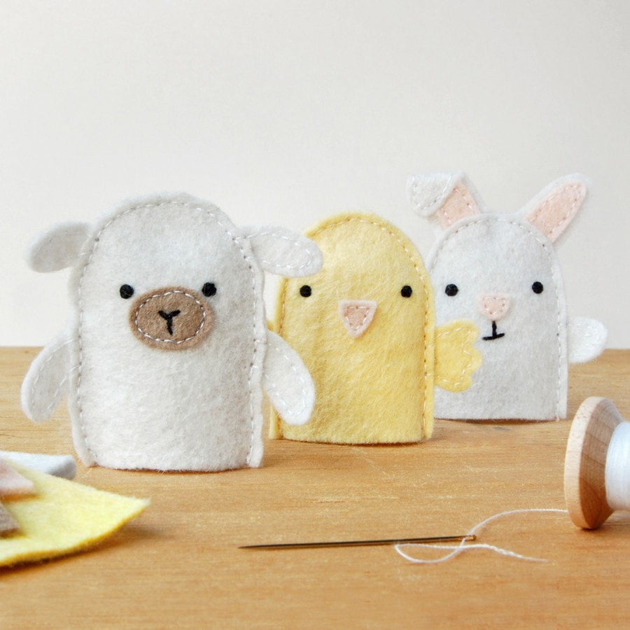Make Your Own Spring Finger Puppets Craft Kit - Clara and Macy