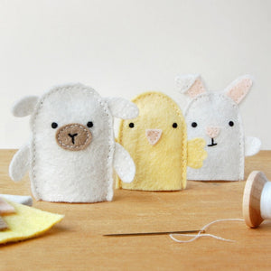 Make Your Own Spring Friends Finger Puppets Craft Kit - Clara and Macy