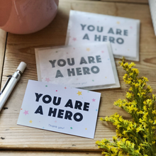 You Are A Hero Mini Pocket Cards Pack - Clara and Macy