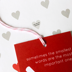 Mini Love Heart Messages Wrapping Paper Set - Clara and Macy