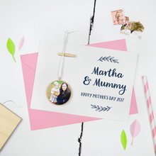 Personalised Mother's Day Photograph Keepsake Card - Clara and Macy