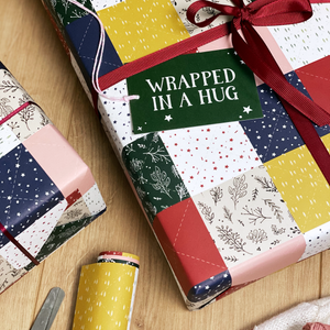 Patchwork Quilt Hug Wrapping Paper Set