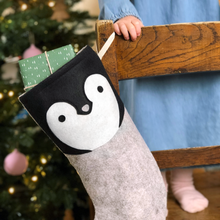 Dress Up Penguin Felt Christmas Stocking - Clara and Macy