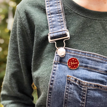 Red 'I Believe' Enamel Pin Badge - Clara and Macy