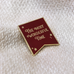 The Most Wonderful Time Navy Enamel Pin Badge