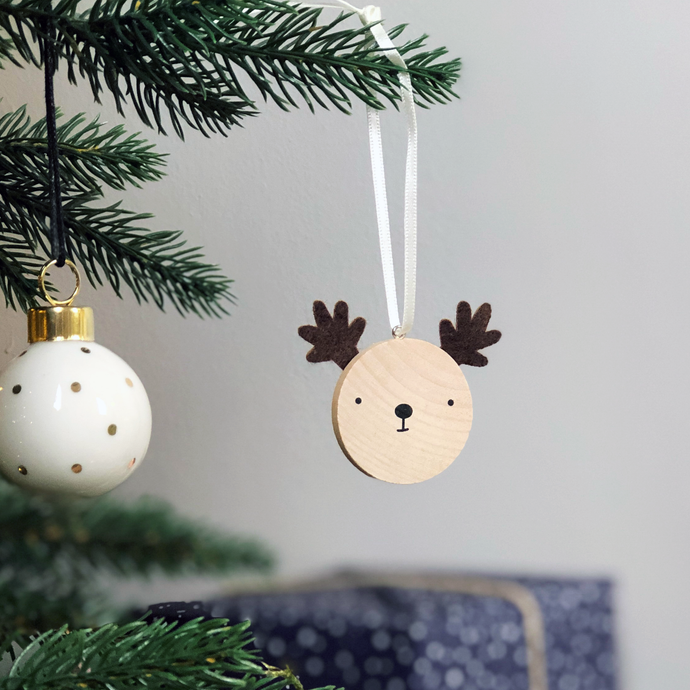 Tiny Reindeer Christmas Tree Decoration - Clara and Macy