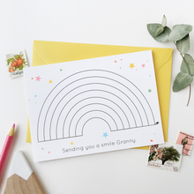 Send A Smile Colour In Rainbow Personalised Card - Clara and Macy