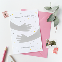 Personalised Sending You A Hug Card - Clara and Macy