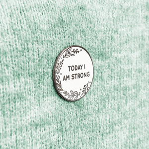 'Today I Am' Pin Badge Personalised Card - Clara and Macy