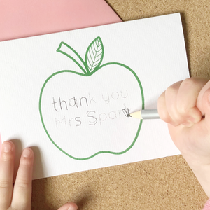 Thank You Teacher Personalised Handwriting Card - Clara and Macy