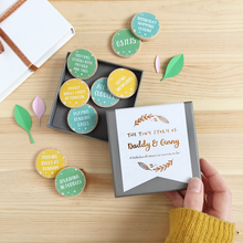 Personalised The Tiny Story Of Daddy And Me Tokens - Clara and Macy