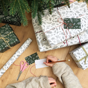 Christmas Greenery Mixed Wrapping Paper Set - Clara and Macy