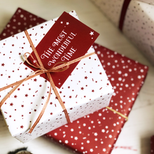 The Most Wonderful Time White Christmas Wrapping Paper Set