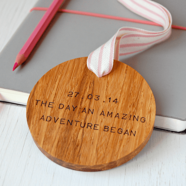 Personalised Amazing Adventure Wooden Keepsake - Clara and Macy