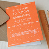 Personalised You Are Amazing Card - Clara and Macy