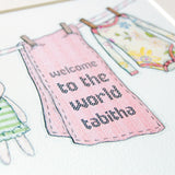Personalised Welcome To The World Girl Print - Clara and Macy